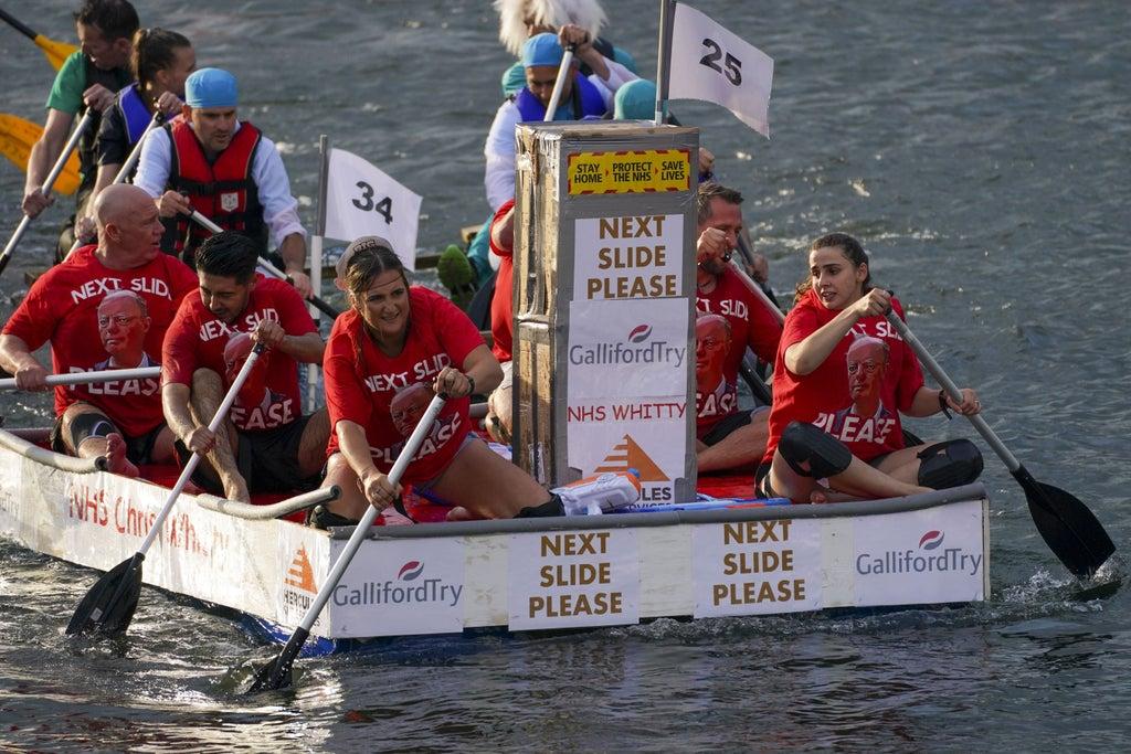 Chris Whitty and key workers honoured in 'superhero' charity raft race