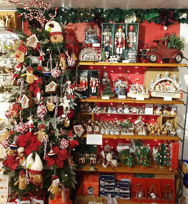 Old Rowlands Gift and Christmas Shop in Cheddar Gorge has had a festive theme since the 1990s