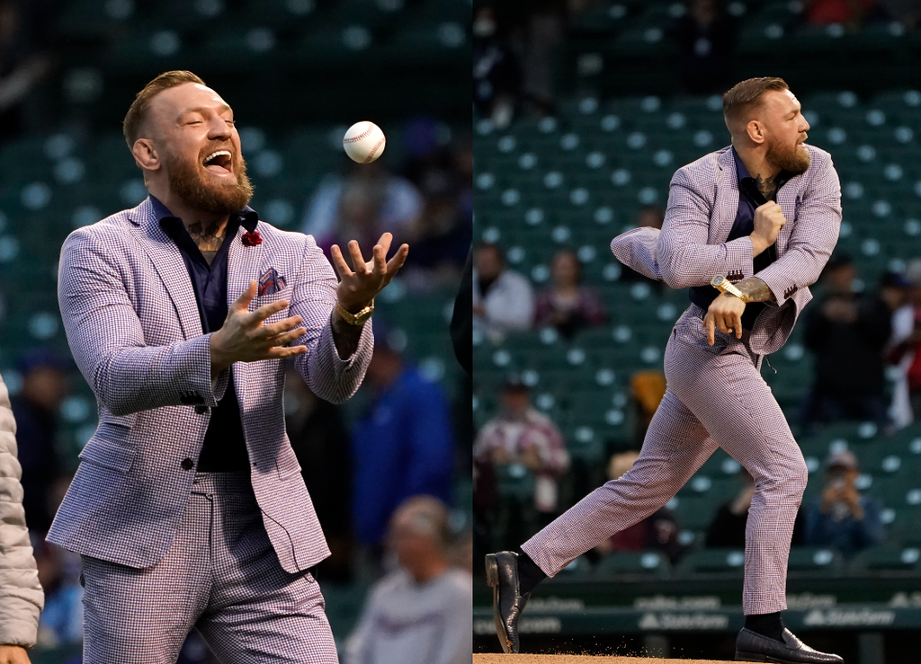 Conor McGregor mocked after throwing one of the 'worst baseball pitches of all-time'