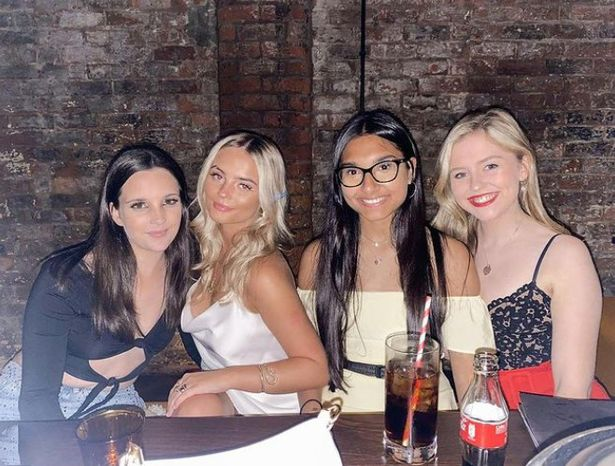 Image of corrie stars Millie Gibson, Elle Mulvaney and Tanisha Gorey and Harriet Bibby
