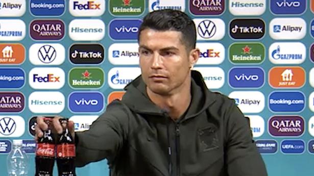 Cristiano Ronaldo is no longer a fan of Coca-Cola