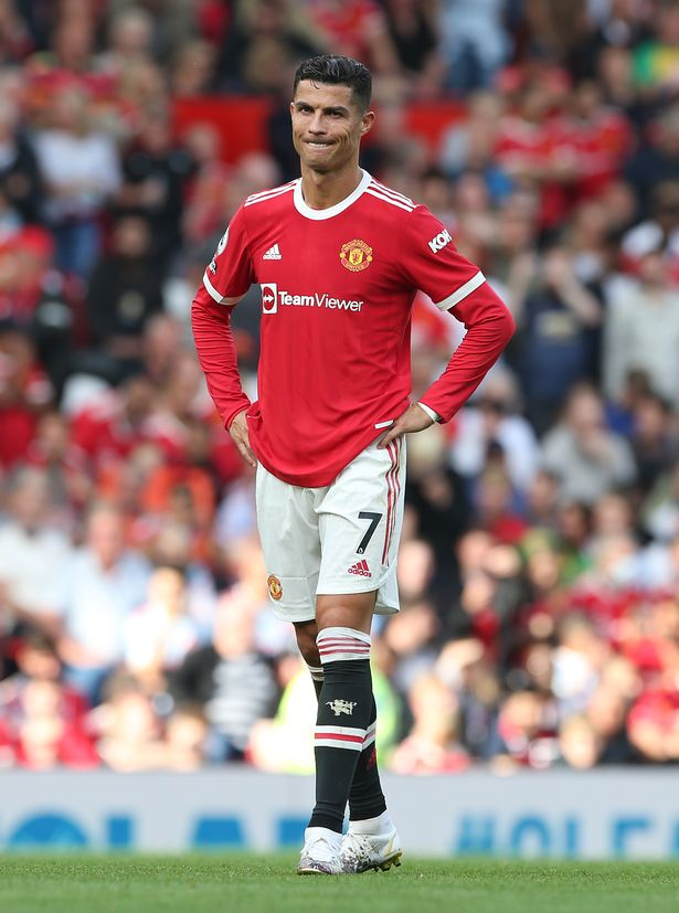 Cristiano Ronaldo stands with hands on his hips during the Premier League match between Manchester United and Newcastle United