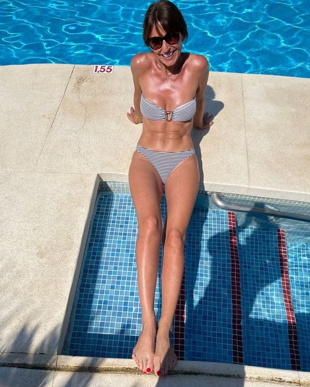Davina blew fans and friends away with her killer abs