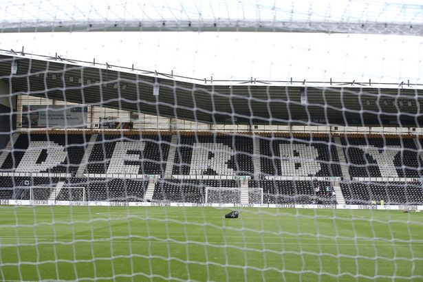 General view during the Sky Bet Championship match between Derby County and Stoke City at Pride Park Stadium on September 18, 2021 in Derby, England.