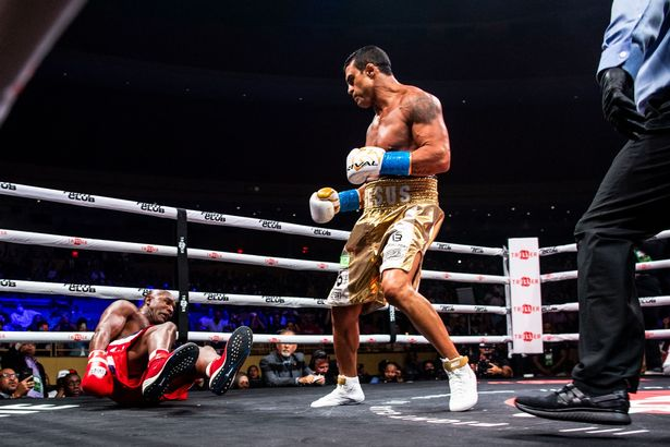Evander Holyfield was quickly dispatched by Brazilian Vitor Belfort in their exhibition bout