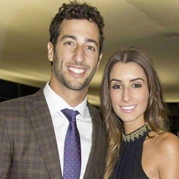 Daniel Ricciardo with ex-girlfriend Jemma Boskovich