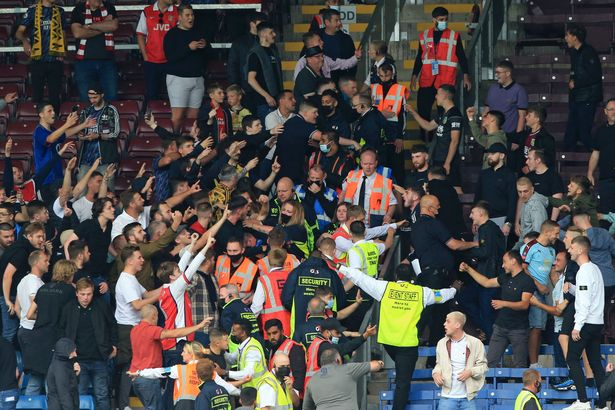 FA investigating wild Arsenal and Burnley crowd violence after bottles were hurled