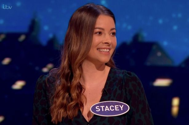 Family Fortunes fans go wild as stunning brunette bombshell Stacey steals show