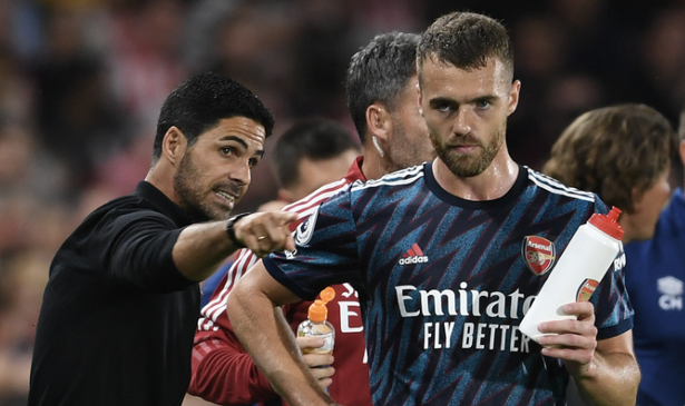 Arsenal boss Mikel Arteta picked Calum Chambers to start
