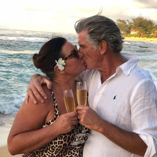 Bond star Pierce enjoyed a romantic getaway with wife Keely to celebrate her 58th birthday