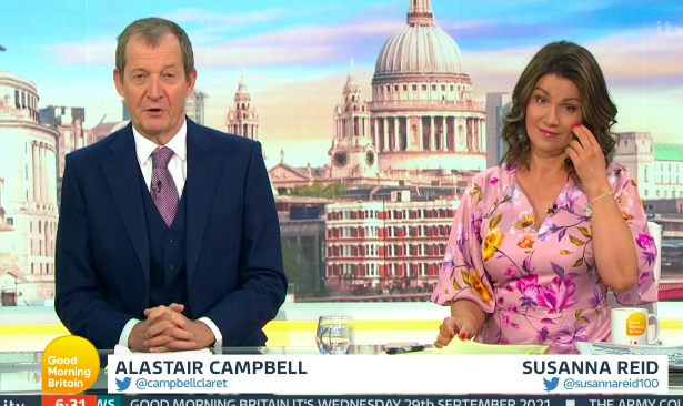 Susanna didn't seem amused that her co-star had a case of the giggle on Wednesday's show