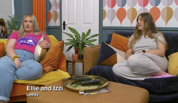 Ellie and Izzi's living room had completely changed