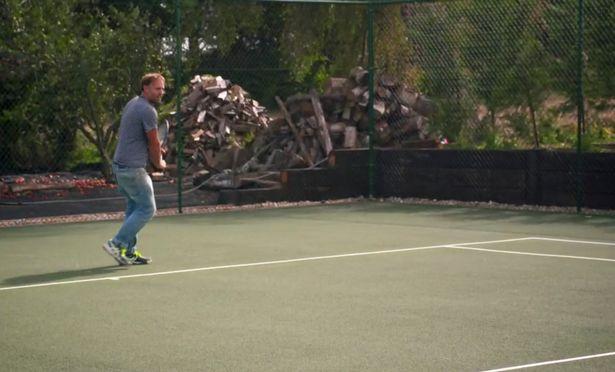 Dan first built a tennis court as a treat to himself after going through months of setbacks