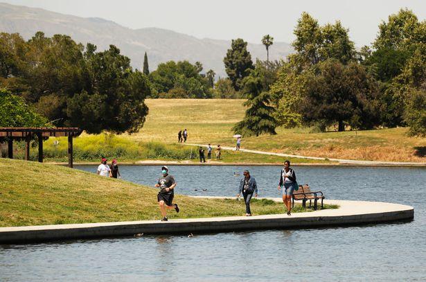 Lake Balboa Beilenson Park where the pair enjoyed some of Karen's final days