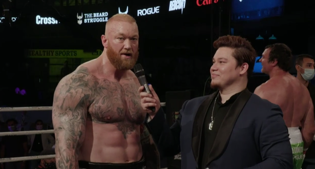 Hafthor Bjornsson digs out rival Eddie Hall with KO threat after beating Devon Larratt