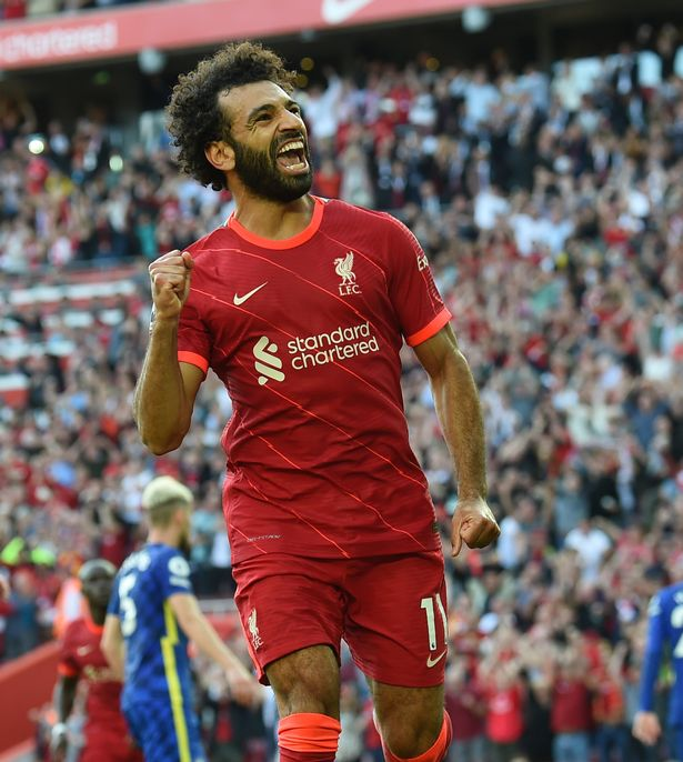 Mohamed Salah has only been booked six times for Liverpool, with three of those coming for taking his top off