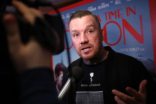 Jamie O'Hara speaks to reporters