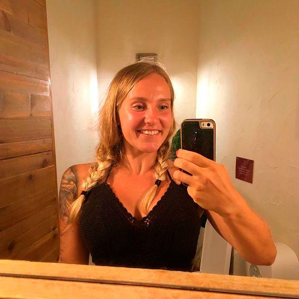 Emma Mönkkönen, 24, got into trouble in the stormy waves
