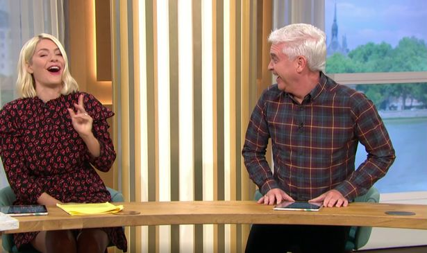 This Morning presenters Holly Willoughby and Phillip Schofield burst into laughter after making a naughty joke about 'forest dogging' during Monday's show