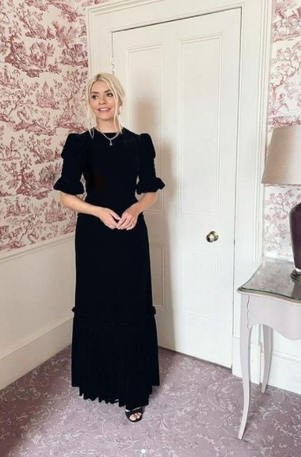 Holly Willoughby looks super elegant in this black floor-length dress in her latest Instagram snap