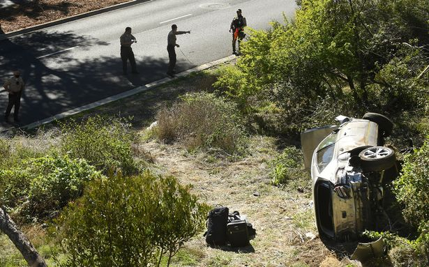 Tiger Woods crashed his car into a tree at 87mph in February