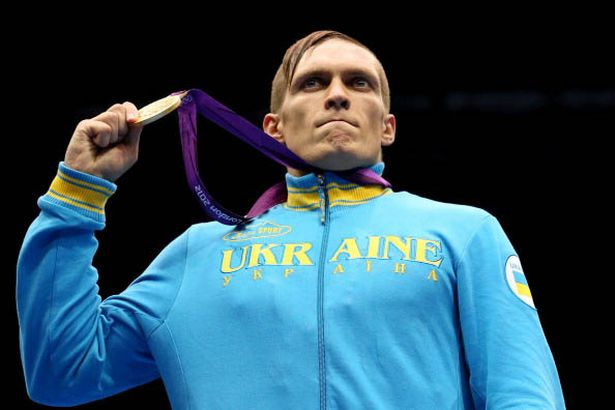 Oleksandr Usyk with his gold medal at London 2012