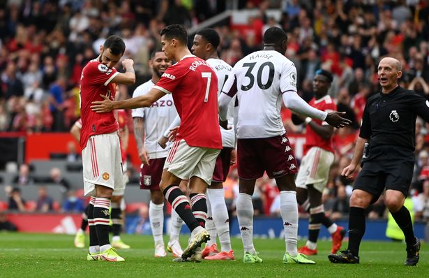 Bruno Fernandes missed a penalty in stoppage time as Man Utd fell to defeat against Aston Villa