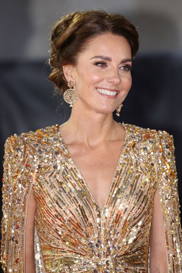 """Catherine, Duchess of Cambridge attends the """"No Time To Die"""" World Premiere at Royal Albert Hall"""