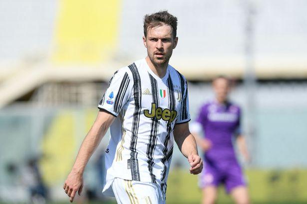 Aaron Ramsey playing for Juventus
