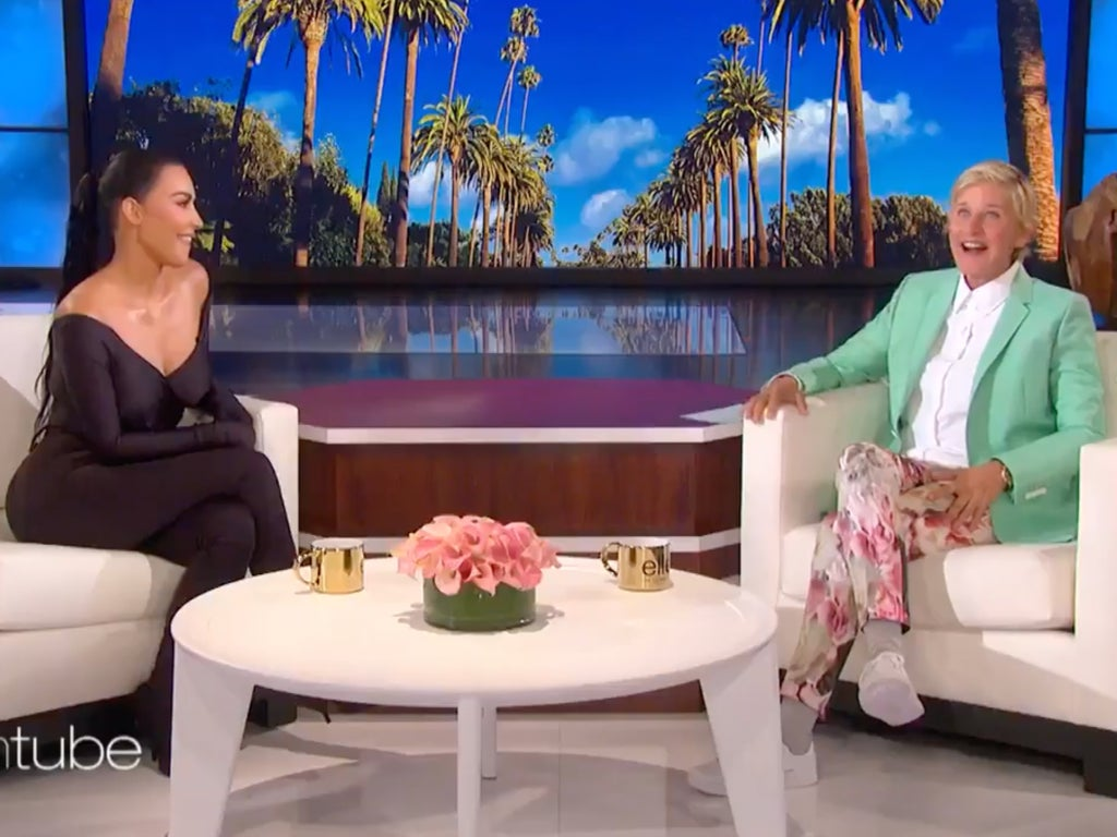 Kim Kardashian corrects Ellen who assumed Psalm's necklace was fake and the passive aggression is 'scary'