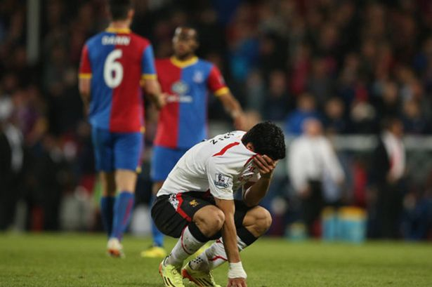 Luis Suarez was in tears after Liverpool threw away a three-goal lead against Crystal Palace