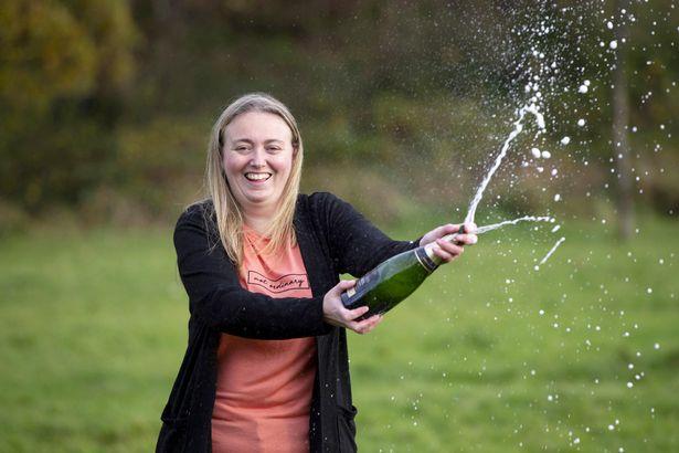 Sandra Devine pops champagne to celebrate winning £300k