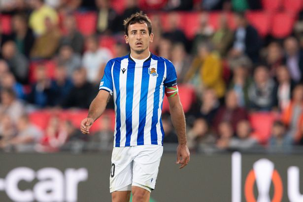 Mikel Oyarzabal of Real Sociedad San Sebastian looks on during the UEFA Europa League group B match between PSV Eindhoven and Real Sociedad at PSV Stadion on September 16, 2021 in Eindhoven, Netherlands