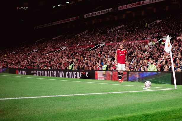 Alex Telles of Manchester United in action during the Carabao Cup Third Round match between Manchester United and West Ham United at Old Trafford on September 22, 2021 in Manchester, England
