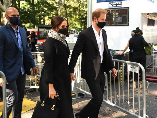 Meghan and Harry has a large security presence around them in New York