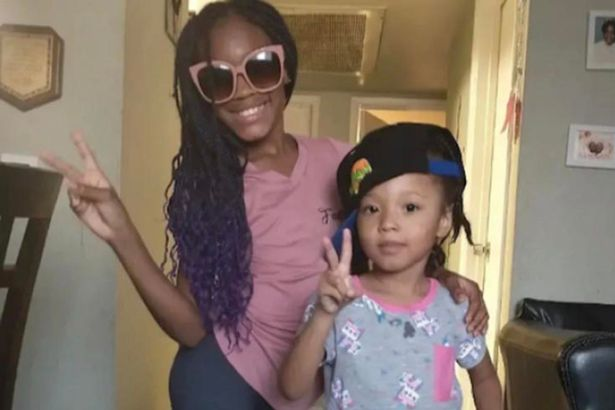 Police say nine-year-old Aleyah (left) and 4-year-old Royal McIntyre were found with their arms around each other
