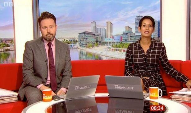 Naga Munchetty was left embarrassed on Saturday's episode of BBC Breakfast