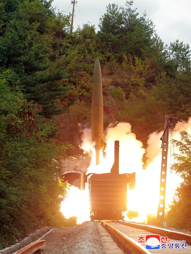 The missile was launched as a test in North Korea