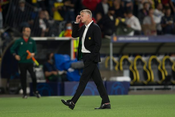 BERN, SWITZERLAND - SEPTEMBER 14: (BILD OUT) head coach Ole Gunnar Solskjaer of Manchester United looks dejected during the UEFA Champions League group F match between BSC Young Boys and Manchester United at Stadion Wankdorf on September 14, 2021 in Bern, Switzerland. (Photo by Harry Langer/DeFodi Images via Getty Images)