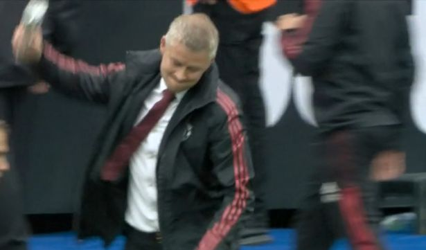 Ole Gunnar Solskjaer launched a bottle in a furious reaction to West Ham being awarded a penalty