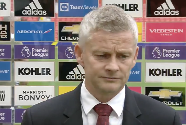 Manchester United boss Ole Gunnar Solskjaer says the situation was unfortunate