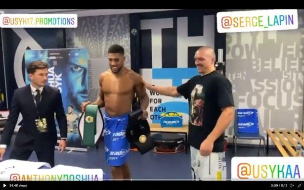 Oleksandr Usyk returns Anthony Joshua's belts