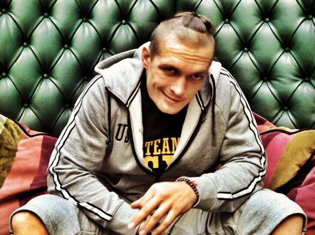 Oleksandr Usyk had a Ukrainian top knot style back in 2013