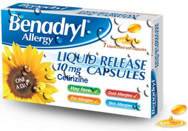 Benadryl is a common hayfever medicine