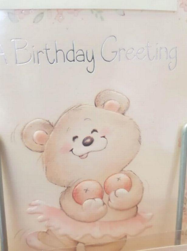 bear on birthday card