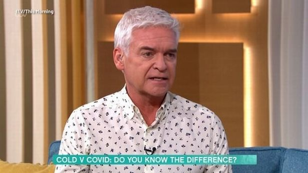 Phillip Schofield clashes with This Morning guest over isolation rules for cold symptoms