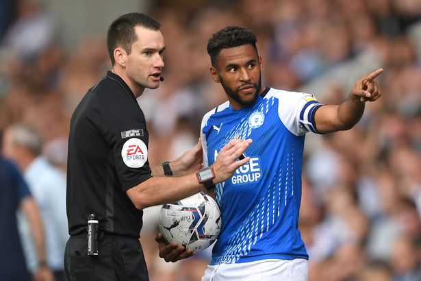 Nathan Thompson (right) was allegedly subjected to racist abuse during Peterborough United's match with Birmingham City