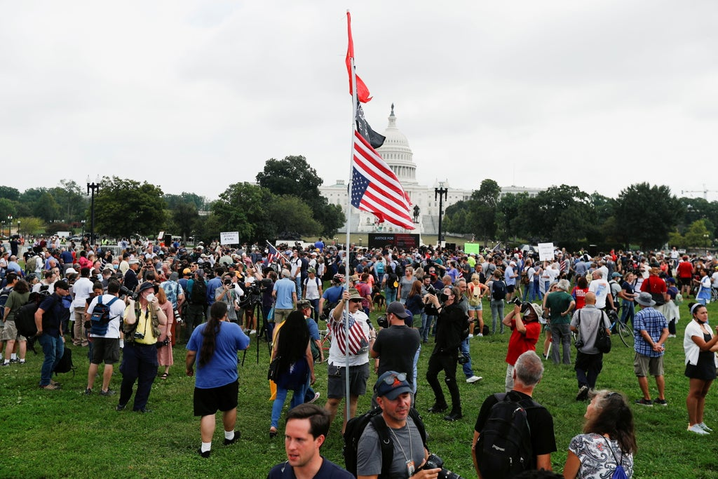 Rally in support of Jan 6 rioters mercilessly mocked as more journalists show up than Trump fans