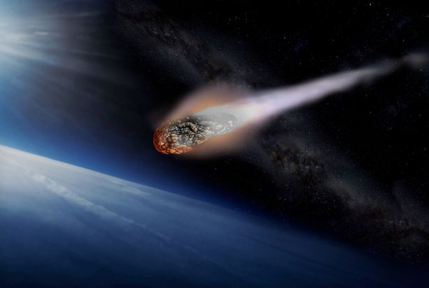 The meteor was reportedly travelling at 32,000mph