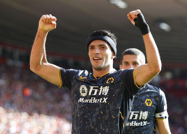 Wolverhampton Wanderers' Raul Jimenez celebrates scoring their first goal